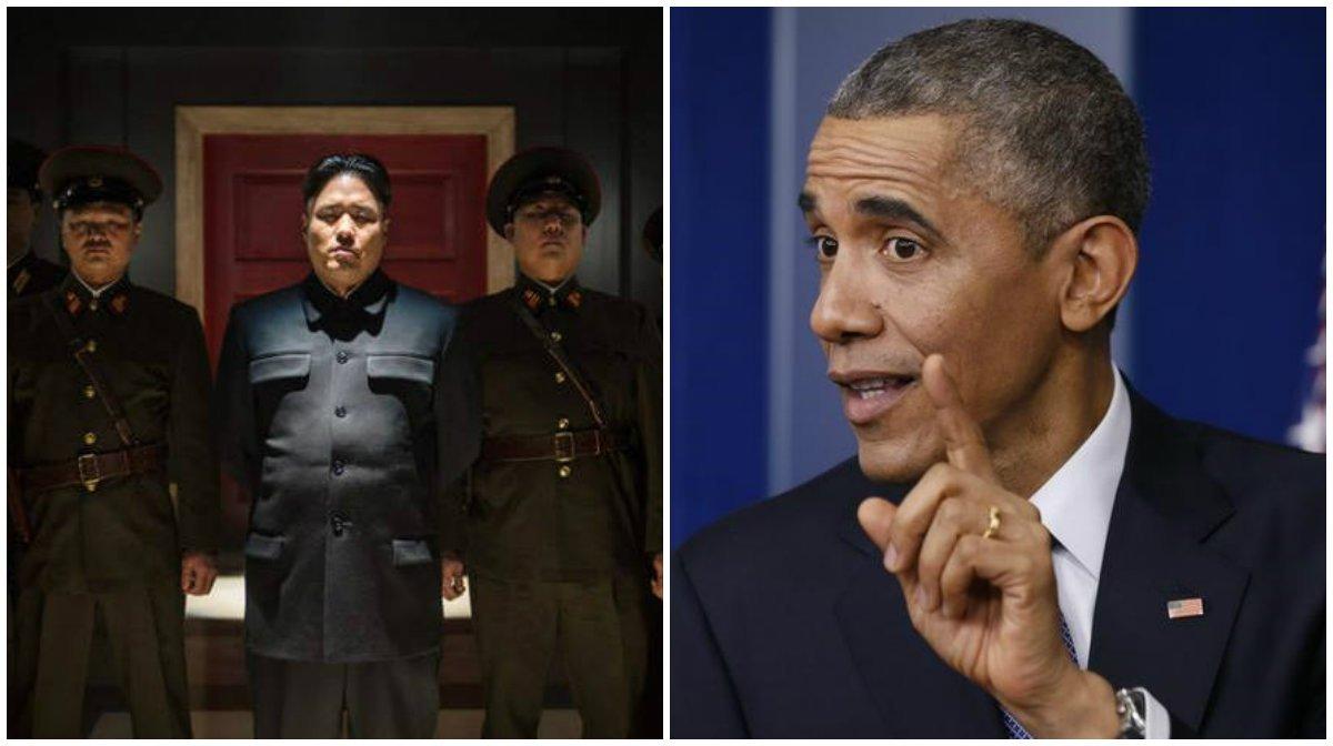 """Presidente dos Estados Unidos disse que a agressão cibernética """"casou muitos danos"""" à Sony, mas que acredita que a empresa cometeu um erro ao cancelar o lançamento do filme """"A Entrevista"""", uma comédia que mostra o assassinato do líder norte-coreano, Kim Jong Un; """"Iremos responder"""", declarou Barack Obama, sobre o ciberataque atribuído à Coreia do Norte"""