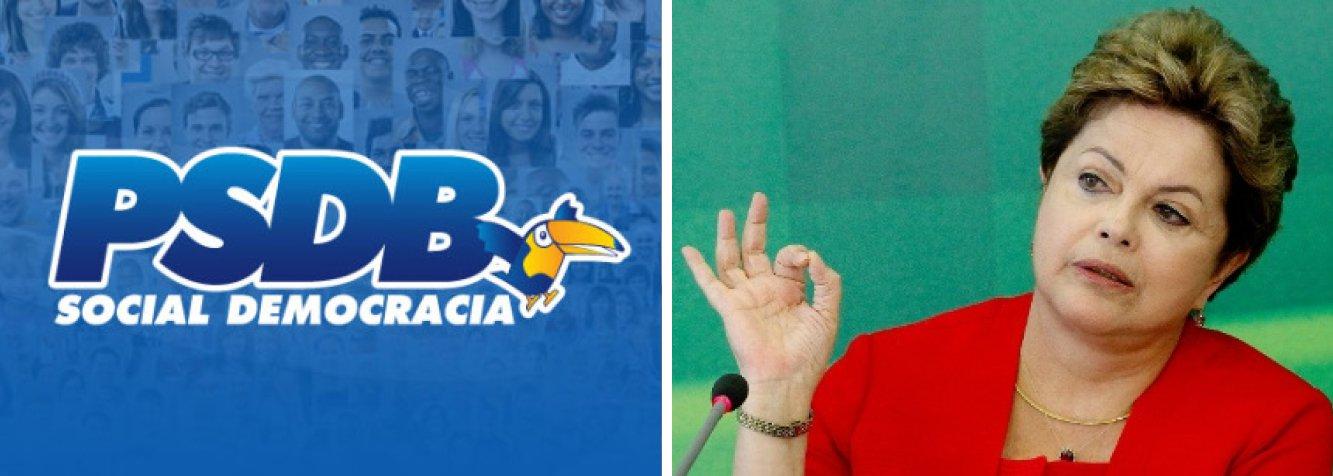 A partir deste sábado, o PSDB levará ao ar comerciais em que acusa a presidente Dilma Rousseff de faltar com a verdade; data para exibição dessas inserções coincide com o período para o qual estão programadas manifestações pelo impeachment da presidente; inserções apresentam pronunciamentos oficiais em que a presidente afirma que não vai aumentar tarifa de energia, que a taxa de juros não vai subir e que a inflação está sob controle