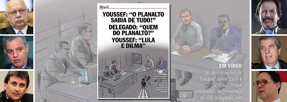 """O crime eleitoral cometido pela revista Veja, que pertence a Giancarlo Civita e é comandada pelo executivo Fábio Barbosa e pelo jornalista Eurípedes Alcântara (à dir.), foi confirmado, nesta quinta-feira, por reportagem do jornal Valor Econômico, pelo próprio advogado Antônio Figueiredo Basto, que defende o doleiro Alberto Youssef; reportagem da semana passada diz que Youssef afirmou que """"Lula e Dilma sabiam de tudo""""; eis, no entanto, o que aponta Figueiredo Basto: """"Não houve depoimento no âmbito da delação premiada. Isso é mentira. Desafio qualquer um a provar que houve oitiva da delação premiada""""; caso está nas mãos de Teori Zavascki, ministro do STF, que pode obrigar Veja desta semana a circular com direito de resposta; atentado à democracia envergonha o jornalismo"""
