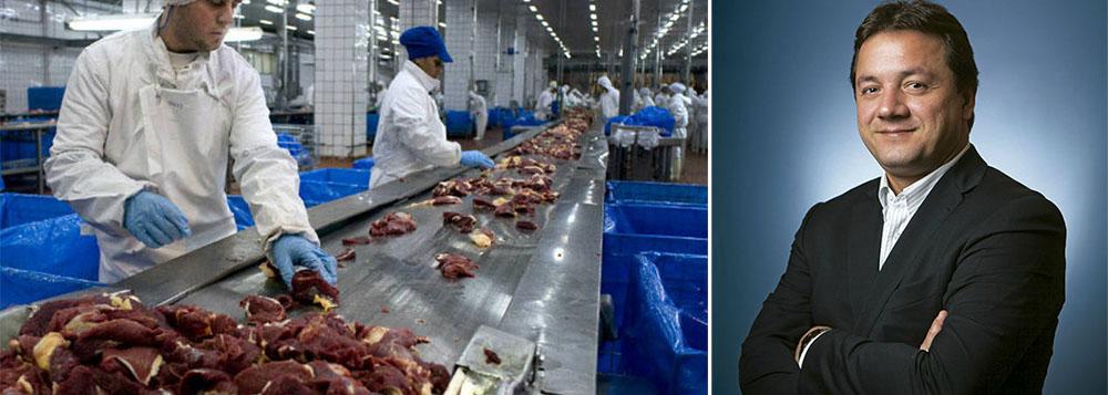 """Grupo tira liderança da Vale, após dez anos; com 80% dos ganhos em dólar, a maior produtora global de proteína animal encerrou 2014 com receita líquida de R$ 120 bilhões e teve crescimento de 30% no faturamento; """"A medida que o real se desvaloriza, isso tem uma contribuição expressiva na receita"""", disse o presidente da JBS, Wesley Batista"""