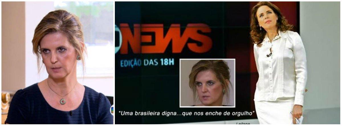 """""""Prêmio"""" foi entregue pelo portal Poços 10, de Minas Gerais, que disse que a jornalista da Globonews superou Lobão ao dizer que Venina Velosa da Fonseca, ex-gerente da Petrobras, é """"uma brasileira digna... que nos enche de orgulho"""""""