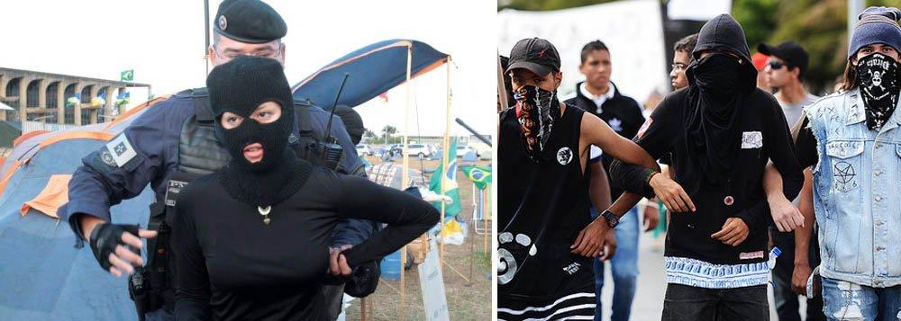 A Polícia Militar (PM) informou que vai revistar sãs bolsas de manifestantes em Brasília; de acordo com orientações da corporação, não serão permitidos garrafas ou objetos de vidro, fogos de artifício, suportes de qualquer tipo de material para bandeiras; as máscaras serão recolhidas; governo federal montou esquema de prontidão neste fim de semana para evitar que as manifestações terminem em violência