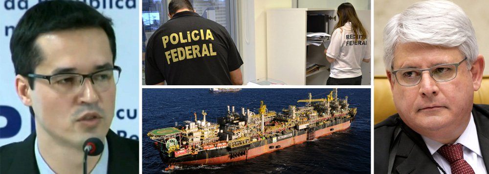 """Investigadores da Lava Jato apresentam nesta tarde denúncias formais contra 35 pessoas, vinculadas a seis empreiteiras, envolvidas no esquema de corrupção em contratos da Petrobras; estatal """"pagava de forma sobrevalorada pelas obras das grandes empreiteiras"""", explicou o procurador Deltan Dallagnol, que chamou o caso de """"imenso e gigantesco esquema criminoso""""; busca de ressarcimento mínimo aos cofres públicos é de R$ 1 bilhão; operações denunciadas envolvem R$ 300 milhões; procurador-geral da República, Rodrigo Janot, chamou esquema de """"aula de crime"""", que """"roubou o orgulho dos brasileiros"""""""