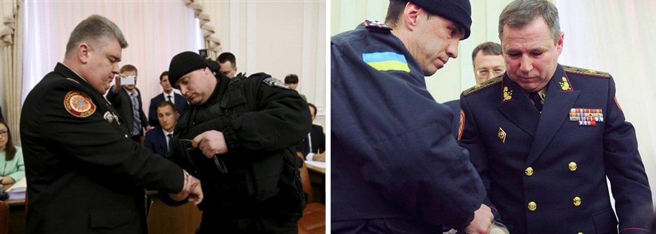 Dois altos responsáveis do Serviço de Emergência da Ucrânia, Serguei Bochkovski, diretor do serviço, e Vassili Stoietski, seu adjunto, foram detidos e algemadosnesta quarta-feira 25 por suspeitas de corrupção em plena reunião do governo e diante das câmeras de televisão
