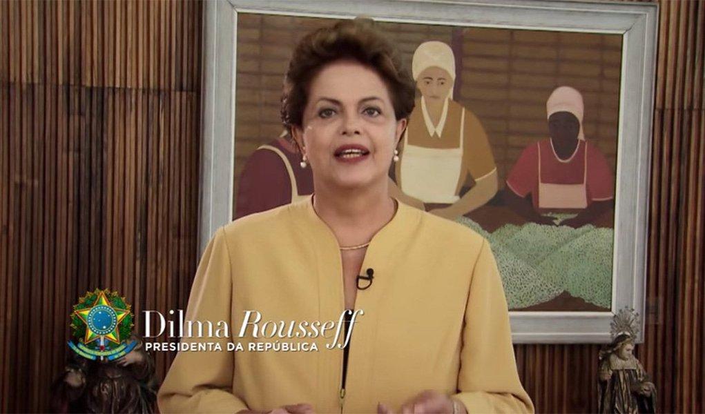 Em pronunciamento pelo Dia da Mulher, neste domingo, presidente Dilma Rousseff deve passar como recado a importância das medidas econômicas anunciadas pelo ministro da Fazenda, Joaquim Levy, no momento de conflito político no Congresso; ela também deve levantar a bandeira do combate à corrupção, em meio à lista de políticos denunciados pelo Ministério Público; Dilma vai pedir confiança em seu governo e deve insistir que o Brasil tem uma base sólida para enfrentar a crise e retomar o caminho do crescimento, com geração de emprego e renda