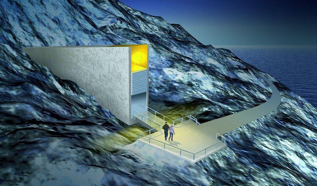 Existe um gigantesco cofre-forte escavado numa área de gelo permanente na Noruega, nas Ilhas Svalbard, a cerca de mil quilômetros do Polo Norte. Nela é conservado o tesouro mais precioso da humanidade: as sementes