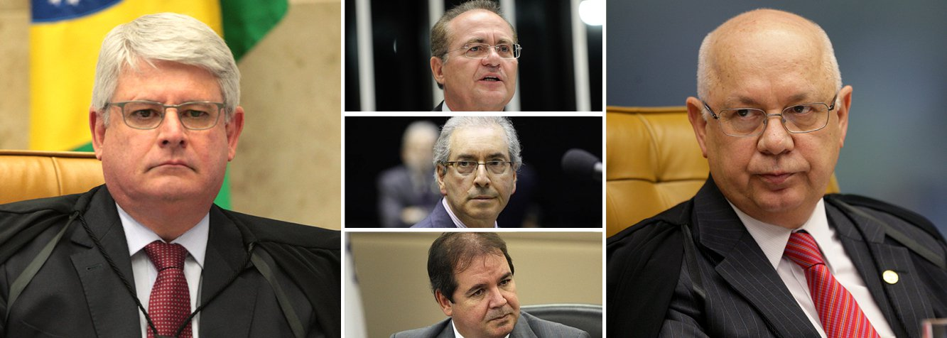 A Procuradoria-Geral da República protocolou nesta terça (3), às 20h11, no Supremo Tribunal Federal, a lista com pedidos de abertura de inquérito a fim de investigar pessoas suspeitas de envolvimento no caso de corrupção da Petrobras, citados na Operação Lava Jato; constam, no total, 54 nomes de investigados e feitos 28 pedidos de abertura de inquérito; nem todos têm foro privilegiado; há sete pedidos de arquivamento; nomes não foram divulgados, mas já se sabe que Renan Calheiros e Eduardo Cunha foram citados; 247 noticiou, com exclusividade, que o governador Tião Viana, do Acre, está na lista; ministro Teori Zavascki decidirá sobre quebra de sigilo