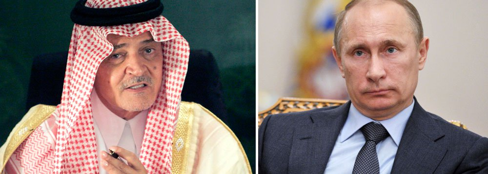 """A Arábia Saudita acusou o presidente russo, Vladimir Putin, de hipocrisia, no domingo, dizendo durante uma reunião de cúpula dos países árabes, que ele não deveria expressar seu apoio ao Oriente Médio ao mesmo tempo em que gera instabilidade ao apoiar o líder sírio, Bashar al-Assad; """"Ele fala sobre os problemas no Oriente Médio como se a Rússia não estivesse influenciando esses problemas"""", disseo ministro das relações exteriores saudita, príncipe Saud al-Faisal"""