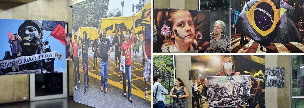 """Exposição de fotos no Rio, chamada """"Cidadãos de Junho"""", marca um ano da saída às ruas, em diversas cidades, de massas em protestos; cenas foram captadas em 143 diferentes municípios; naquele período de 2013, 81% dos brasileiros se mostraram favoráveis aos protestos, mas hoje 73% acreditam que eles geram mais prejuízos do que benefícios; degeneração promovida por grupos de black blocs e atos de vandalismo inverteram a opinião pública; um ano depois, neste junho de abertura de Copa, movimentos ganharão força ou caráter esportivo do Mundial irá baixar bandeiras sociais e políticas?"""