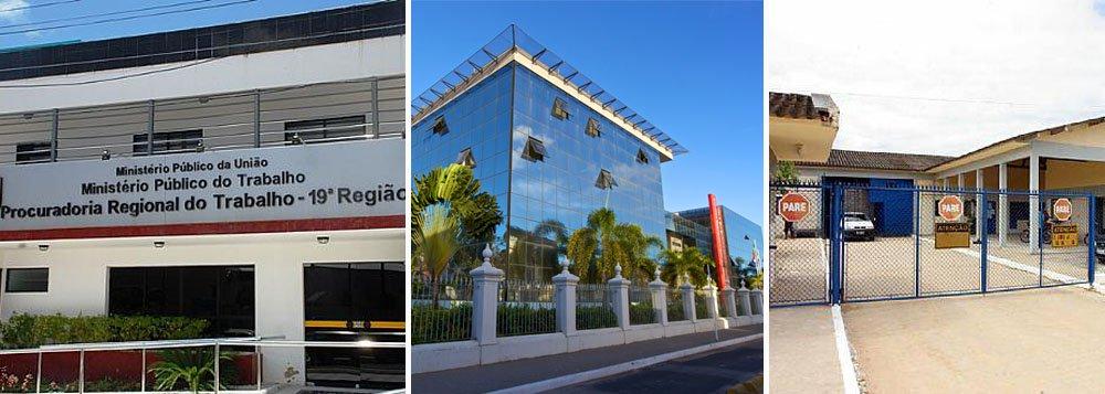 O governo de Alagoas foi condenado por descumprimento de normas trabalhistas no sistema prisional. Ação partiu do Ministério Público do Trabalho (MPT). Os trabalhadores atuavam sem segurança, sem banheiro e sem abrigo de sol e chuva