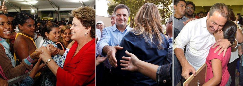 Nova pesquisa Datafolha finalizada nesta quarta-feira (2) e divulgada pelo site do jornal Folha de S. Paulo no final da noite confirma dados da pesquisa Ibope de 13 dias atrás: intenções de voto para a presidente Dilma Rousseff (PT) cresceram de 34% para 38%; candidato do PSDB, Aécio Neves, oscilou de 19% para 20%; candidato do PSB, Eduardo Campos variou de 7% para 9%