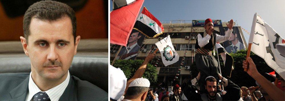 """É a primeira vez que líder sírio alcança menos de 95% de aprovação; oposição chamou pleito de """"farsa"""";colégios eleitorais só estavam abertos em territórios controlados pelas autoridades sírias, excluindo aqueles que são contrários ao governo de Bashar AlAssad, que está no poder desde 2000;EUA chamaram eleição de """"desgraça"""""""