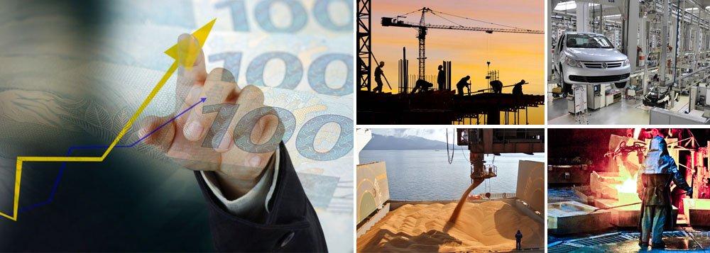 PIB totalizou R$ 4,84 trilhões no ano, segundo dados divulgados pelo Instituto Brasileiro de Geografia e Estatística (IBGE); em 2012, a economia brasileira havia crescido 1%; no quarto trimestre de 2013, o crescimento foi de 0,7% na comparação com o trimestre anterior e 1,9% na comparação com o mesmo período de 2012; desempenho foi melhor do que o previsto