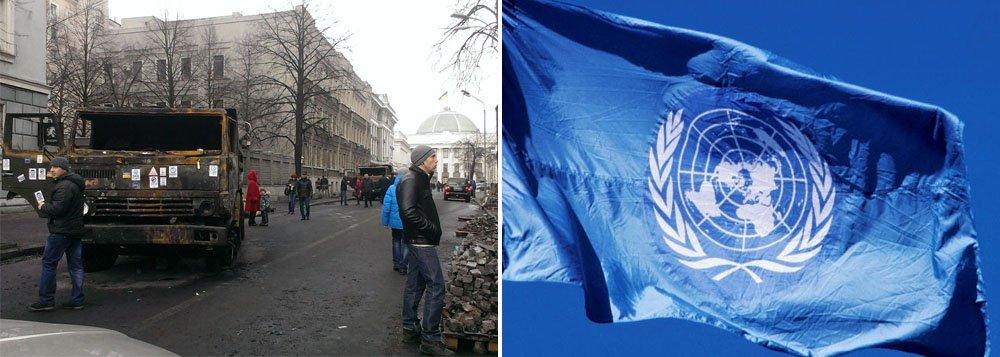 Em plena transição de governo, nação pede que Conselho de Segurança se reúna para discutir crise,à luz de um entendimento de 1993 no qual as grandes potências do mundo concordaram em garantir integridade territorial ao país