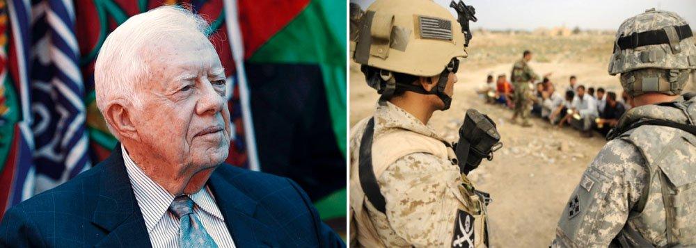 Em entrevista, ex-presidente americano Jimmy Carter condena o militarismo excessivo dos Estados Unidos e afirma ainda que pena de morte é uma situação que envergonha o país