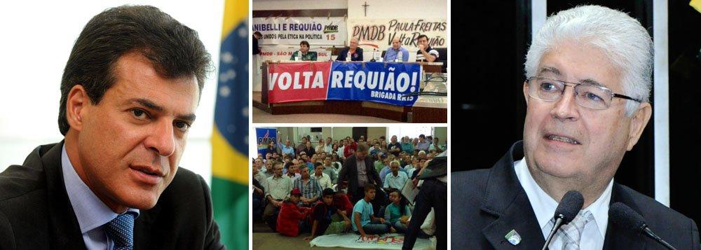 """Senador foi aclamado neste sábado, em União da Vitória, como """"candidato"""" do PMDB ao governo do Estado durante a passagem da caravana """"Volta, Requião""""; """"Depois da pesquisa com delegados da convenção do PMDB, Beto Richa mandou rezar sua própria missa de sétimo dia na capela do Iguaçu"""", provocou o peemedebista"""