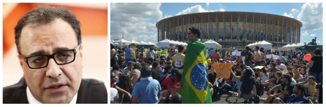 """""""A Copa é, óbvio, um prato cheio de desperdício, politicagem autoritária, incompetência e outros acintes. A depender do gosto do freguês manifestante, não vai ser difícil contrastar essa despesa perdulária e arbitrária com algum motivo de revolta com a selvageria social e a inércia política brasileiras"""", diz o colunista Vinícius Torres Freire, que anuncia um ensaio das manifestações já em 25 de janeiro, em todas as cidades-sede do Mundial"""