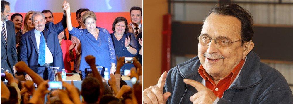 """Ex-marido da presidente Dilma, o advogado Carlos Araújo, de quem ela é muito próxima, afirma que o PT soube assimilar todas as crises e por isso é um partido que sempre cresce politicamente, """"porque corresponde às aspirações dos mais pobres e agrega setores de todas as demais classes sociais""""; ele vê no radicalismo e sectarismo da imprensa uma das forças que impulsiona o PT; """"A mídia fala durante seis meses que o Brasil irá à falência. Não foi. Depois o Brasil não exporta mais nada e tal. Ou então esgotou o mercado interno. Não acontece nada. Agora é inflação. De novo não acontece nada. A mídia esgota todos os temas e não acontece nada. O povo brasileiro tem sabedoria e esperteza, e não dá bola"""", diz"""