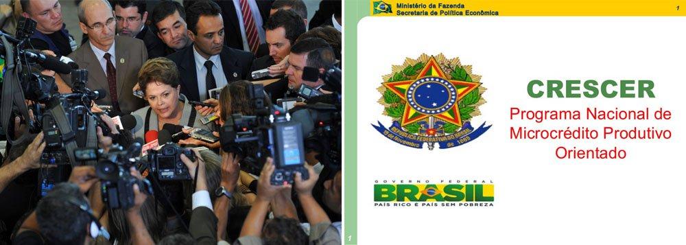 """Programa é destinado a pequenos empreendedores; """"Esses recursos significam a melhoria, o crescimento e a sobrevivência de um pequeno negócio. Cada um dos empréstimos do Crescer é uma alavanca para os nossos pequenos empresários e é mais desenvolvimento para o Brasil"""", disse a presidente"""