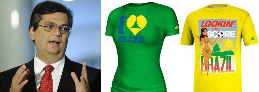 """O presidente da Embratur, Flávio Dino, afirmou que as camisetas desenvovlidas para a Copa do Mundo pela Adidas, patrocinadora oficial do evento, não retratam a realidade do país e que a campanha da empresa """"ignora e desrespeita"""" a linha de comunicação que o governo adota para a promoção turística do Brasil no exterior;""""Isso atrapalha a organização do Mundial"""", disse"""