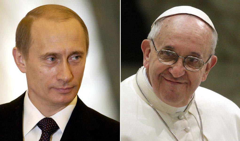 Presidente russo, Vladimir Putin, foi eleito candidato por seu papel na crise da Síria, mas atravessa hoje um conflito com a Ucrânia, que poderá desencadear em uma guerra na Crimeia; candidatura do papa Francisco acontece poucos dias antes de ele completar um ano de seu pontificado