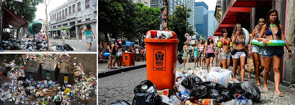 Cerca de 50 grevistas coagiram um grupo de 20 garis que trabalhava no Aterro do Flamengo; os garis que limpava as ruas foram ameaçados e, como consequências, entraram em uma van da Comlurb; revoltados, os grevistas quebraram os ancinhos, equipamentos utilizados para juntar folhas secas
