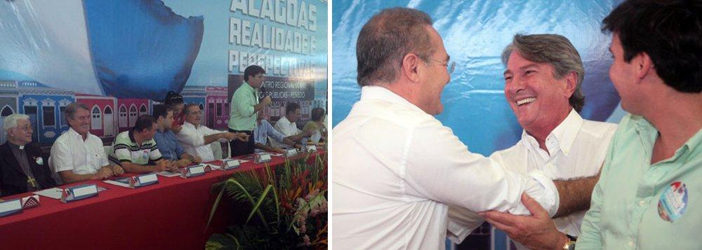 No 5º encontro dos partidos da Frente de Oposição em Alagoas, na cidade de Penedo, o senador Renan Calheiros (PMDB) defendeu que o grupo indique até o final deste mês os nomes dos pré-candidatos para as eleições deste ano. Ele lembrou que os alagoanos estão inseridos dentro de uma triste realidade e que o grupo – que reúne 15 partidos políticos – tem nomes capacitados para mudar a realidade atual. A frente de oposição é formada pelo PMDB, PT, PTB, PDT, PCdoB, PTdoB, PV, PRB e PRTB