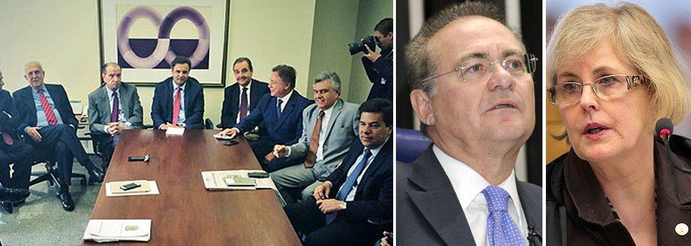 """Voto da ministra Rosa Weber, do Supremo Tribunal Federal, a favor de mandado de segurança por CPI exclusiva sobre a Petrobras empolga oposição; """"Uma vitória da democracia e da sociedade"""", comemorou presidenciável Aécio Neves (PSDB-MG) em coletiva hoje; em nota, presidente do Senado, Renan Calheiros (PMDB-AL), informou nesta manhã que a Casa vai recorrer da decisão ao plenário do STF; """"o poder investigatório do Congresso se estende a toda gama dos interesses nacionais a respeito dos quais ele pode legislar"""", argumentou, em defesa de uma CPI ampla; definição da novela ainda vai se arrastar"""