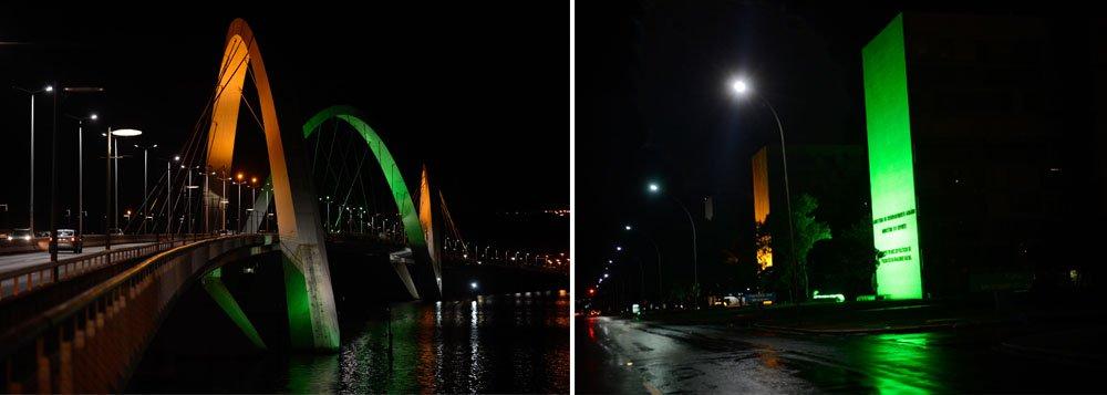 Data simbólica para a reta final dos preparativos foi celebrada nesta terça-feira 4. Pontos turísticos e monumentos de capitais que vão sediar jogos do torneio receberam iluminação especial em verde e amarelo