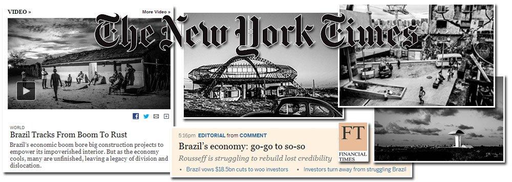 """Falar mal do quintal alheio, mais especificamente do Brasil, parece estar se tornando uma praxe da mídia internacional; inicialmente o jornal britânico Financial Times tentou determinar os rumos da política econômica e chegou a pedir a cabeça do ministro da Fazenda, Guido Mantega; neste domingo, New York Times (EUA) publicou matéria intitulada """"Do boom à ferrugem"""", onde afirma que os atrasos e os altos custos nas obras da Copa são apenas a ponta mais visível dos problemas de infraestrutura enfrentados pelo país; segundo o jornal, esta situação demonstra a fraqueza do capitalismo de Estado no Brasil"""