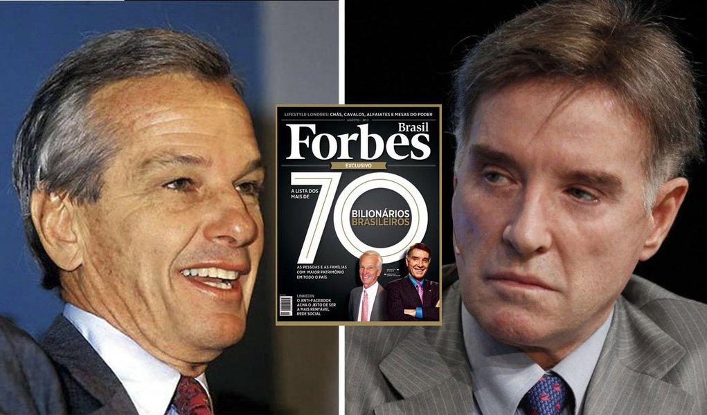 Ranking da revista Forbes aponta o sócio da AB Inbev Jorge Paulo Lemann como a nova maior fortuna do país, com patrimônio de R$ 38,24 bilhões. Ano passado ele aparecia praticamente empatado com Eike