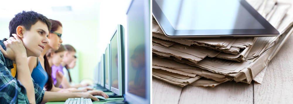Pesquisa da Universidade da Georgia, nos EUA, sobre os graduandos em jornalismo do ano de 2012 mostrou que sete entre 10 estudantes preferiam ler as notícias em portais digitais ou redes sociais em vez da mídia impressa; como no ano anterior, mais da metade dos graduandos havia lido um blog um dia antes da pesquisa