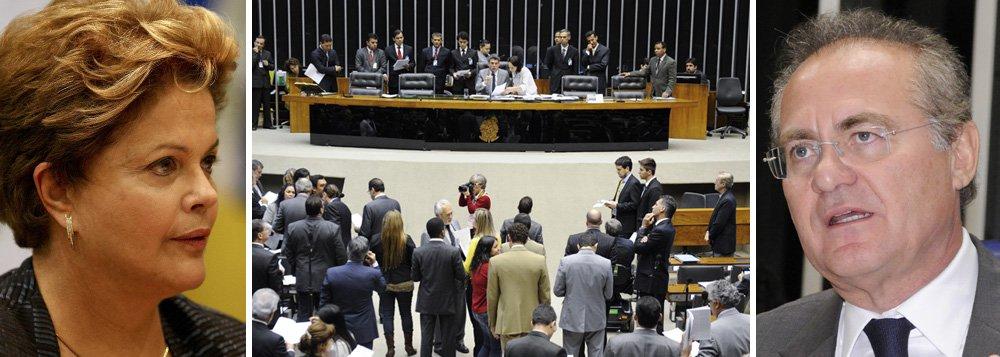 """Após reunião de duas horas, presidente do Senado admite retirar de pauta a principal preocupação do Palácio, que é o veto sobre a multa de 10% do FGTS; Renan também falou que é preciso zelar pelo """"equilíbrio das contas públicas""""; nesta terça, ele se reúne com líderes partidários para discutir a pauta; segundo ele, Dilma está preocupada com nova sistemática definida pelo Congresso para vetos"""