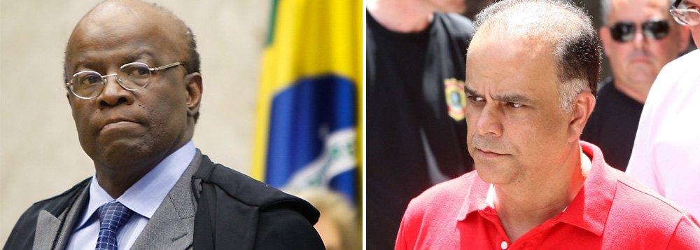 Condenado como operador do esquema do 'mensalão', Marcos Valério pediu transferência da Penitenciária da Papuda, em Brasília, para um presídio de segurança máxima em Belo Horizonte; após posição do procurador-geral da República, caberá ao presidente do STF tomar a decisão