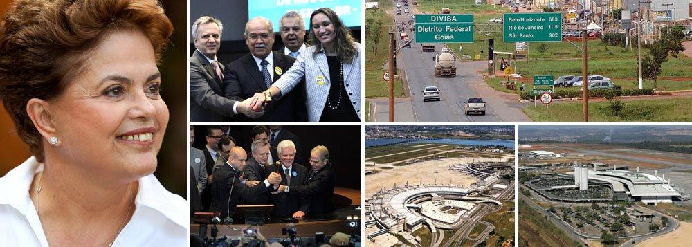 """Consórcio Invepar venceu a disputa pelo trecho da BR-040 com deságio de 61,13%, e tarifa de pedágio de R$ 3,22; plano do governo para melhorar a infraestrutura logística do país, um dos principais entraves para o crescimento econômico, recebeu elogios até da mídia internacional; após a realização dos leilões do Galeão e de Confins, quando o governo arrecadou mais de R$ 20 bilhões, o jornal The Wall Street Journal, projetou a presidente Dilma Rousseff e seu governo """"em alta"""""""