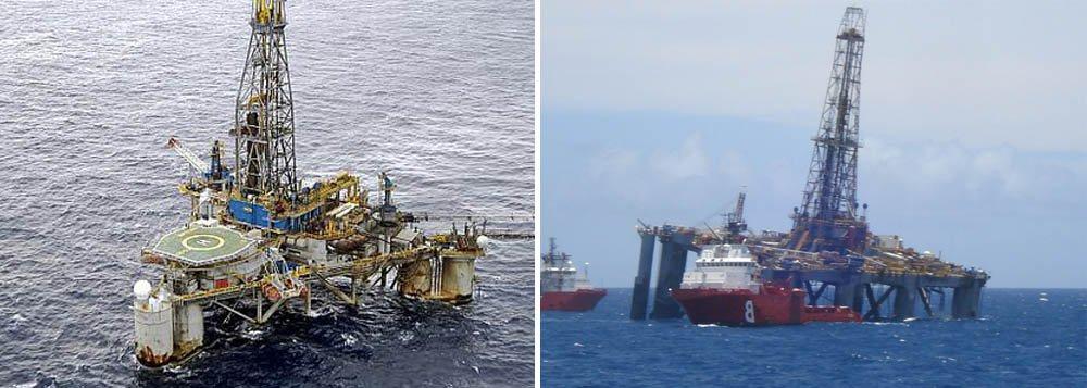 """Plataforma de petróleo da empresa Noble Paul Wolf (SS-53), a serviço da Petrobras, já foi estabilizada: """"A ANP interditou, por medida cautelar, a Sonda SS-53, até que sejam restabelecidas as condições regulamentares de segurança operacional. A Sonda SS-53, que se encontrava no Poço 7-MRL-222HPA-RJS, estava em operação de reentrada e completação do poço, que permanece fechado com tampões de cimento, não havendo risco de vazamento de hidrocarbonetos no mar"""", diz a nota"""