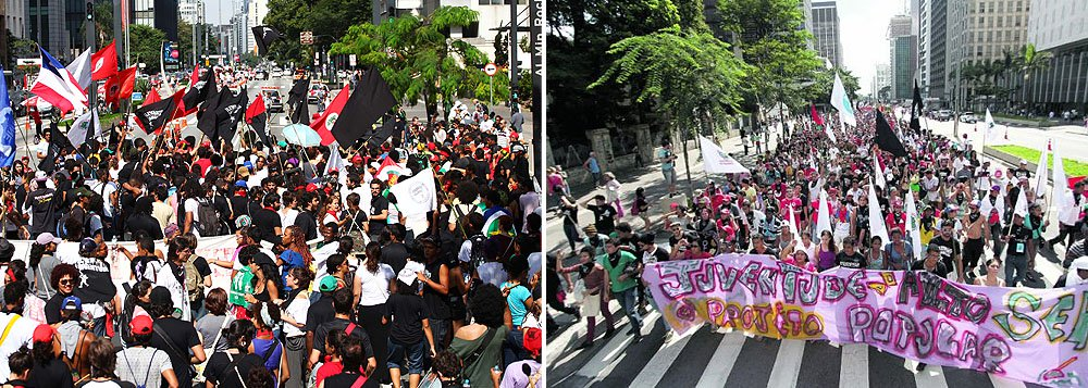Grupo, acompanhado do Levante Popular da Juventude, mobilizou mil pessoas e chegou a fechar a avenida Paulista no sentido Paraíso; segundo a PM, protesto foi pacífico