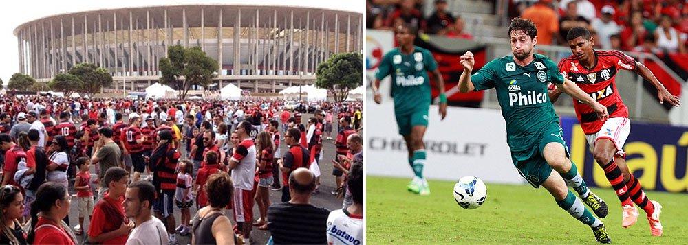 Campeão carioca agitou arena brasiliense; partida selou nova marca histórica do Estádio Nacional, que receberá sete jogos da Copa; mais de 19 mil torcedores estiveram no Mané Garrincha neste domingo (20); desde a inauguração, há 11 meses, cerca de 686 mil pessoas estiveram na arena; número ultrapassou o dobro do público total do antigo Mané Garrincha, que recebeu cerca de 340 mil pessoas em 36 anos de funcionamento