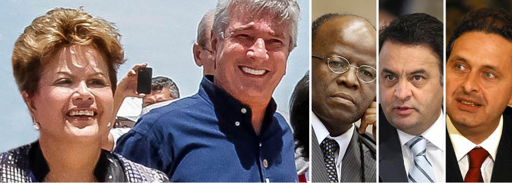 """Em entrevista exclusiva ao 247, o senador e ex-presidente Fernando Collor (PTB-AL) analisa o quadro político e afirma que não há dúvida alguma sobre a releeição da presidente Dilma; """"a única questão é saber se haverá ou não segundo turno e só Joaquim Barbosa pode provocá-lo""""; segundo Collor, o senador Aécio Neves (PSDB-MG) já """"bateu no teto"""" e o governador pernambucano Eduardo Campos, do PSB, teria """"fôlego curto""""; em Alagoas, ele articula um megapalanque de 17 partidos em apoio à reeleição de Dilma e condena os que apostaram no fiasco econômico; """"fizeram um ataque especulativo burro contra o governo""""; ele afirma ainda que, em Alagoas, o caminho natural é a candidatura do presidente do Senado, Renan Calheiros (PMDB-AL), ao governo e sua ao Senado"""