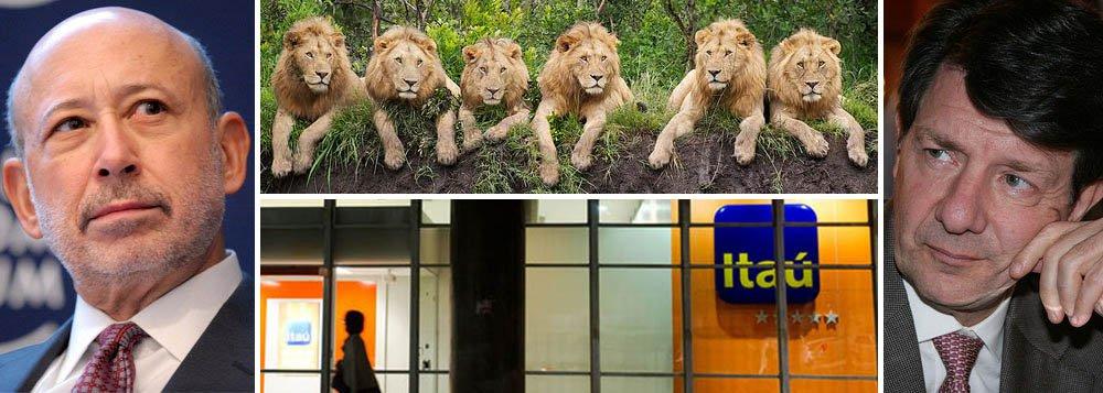 """Goldman Sachs, presidido por Lloyd Blankflein, já foi punido em mais de US$ 800 milhões pelas autoridades fiscais dos EUA, mas no Brasil aposta que multa de R$ 18,7 bilhões contra o Itaú Unibanco será aliviada; analistas do banco americano dizem que Receita não terá """"muito sucesso"""" contra estratégia de confronto de Roberto Setubal e, por isso, recomendam compra de ações da instituição; autuações do Fisco brasileiro ultrapassaram os R$ 105 bilhões no ano passado e estão em crescimento; desdém ao Leão pode custar caro"""