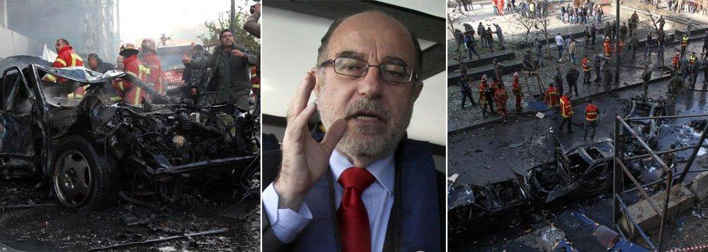 Mohammed Shattah, um muçulmano sunita, foi morto em uma explosão que atingiu seu comboio em Beirute; um restaurante e um café foram destruídos e vários carros pegaram fogo