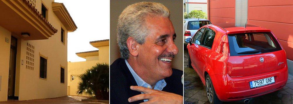 Investigações da polícia espanhola que ajudaram na prisão do ex-diretor do Bando do Brasil revelam aquisição de dois apartamentos de alto padrão em condomínio com vista para o Mediterrâneo; apenas um deles estaria avaliado entre R$ 1,5 e R$ 1,9 milhão; Pizzolato e sua mulher, porém, informaram residência provisória na Espanha em um terceiro imóvel, de padrão inferior; Fiat Punto comprado no país acabou por revelar o paradeiro do condenado na AP 470 no norte da Itália