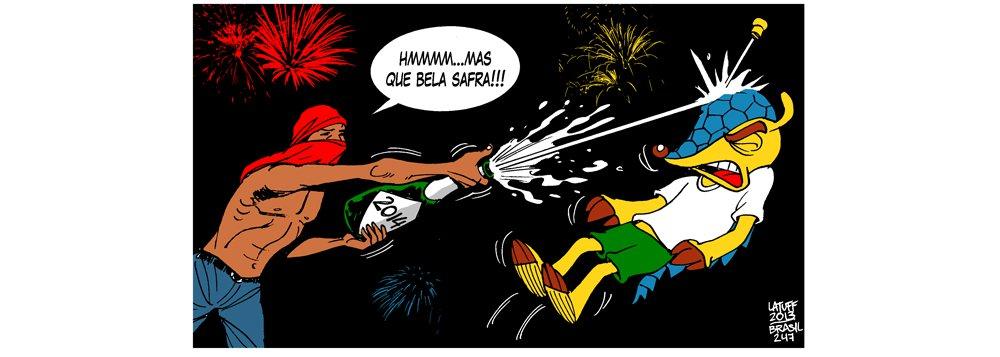 """Depois do ensaio na Copa das Confederações, em 2013, é a vez da Copa do Mundo, em 2014; o grito por um Brasil """"padrão-Fifa"""" ainda está preso na garganta?"""
