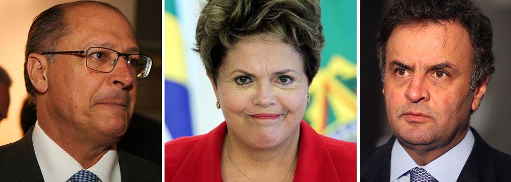 Governador Geraldo Alckmin ainda não ajudou o presidenciável tucano Aécio Neves a decolar no maior colégio eleitoral do país; tem apenas 25% das intenções de voto e está tecnicamente empatado com Dilma Rousseff (PT), favorita de 24% dos alckmistas; no eleitorado de Dilma, o governador tucano tem quase metade (48%) das intenções de voto