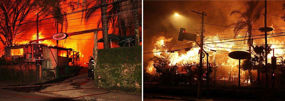 Acidente ocorreu na Avenida Eliseu de Almeida, próximo à Estação Butantã do metrô; o teto do estabelecimento era feito de sapê, o que fez com que o fogo se espalhasse rapidamente; perto do conjunto, na mesma região, uma empresa também foi incendiada