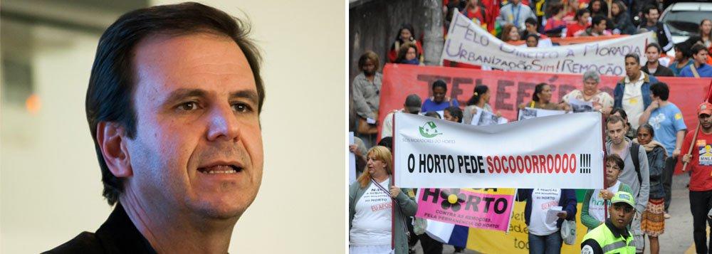 Intitulado Remove o Paes, o movimento pretende realizar uma vigília em frente à casa de Eduardo Paes, para que ele pare com a remoção de comunidades carentes em várias regiões da cidade