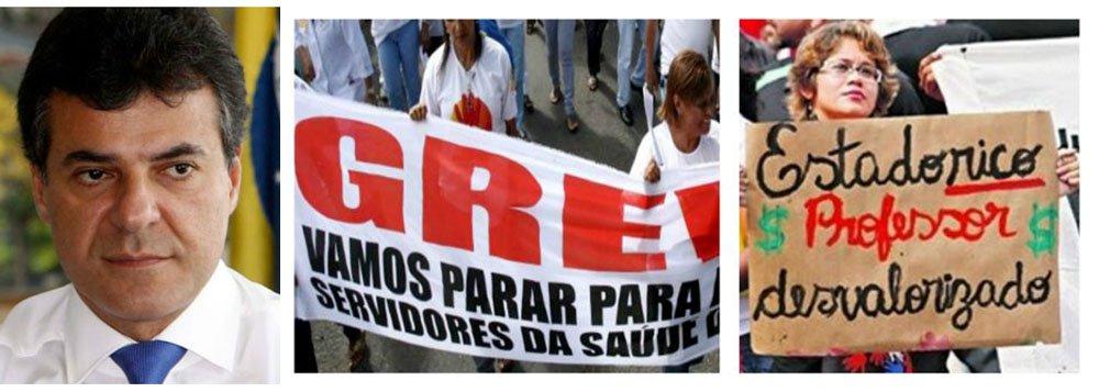 Será a primeira vez, em três anos de gestão, que o governador Beto Richa (PSDB) enfrentará um movimento grevista articulado, nas vésperas das eleições; neste domingo (16), o Sindicato dos Servidores do Detran (SISDEP) realiza assembleia para deflagrar greve a partir de segunda-feira (17); um dia depois, trabalhadores da Saúde iniciam greve contra a privatização da área através da Funeas; na quarta-feira (19), será a vez da Educação parar