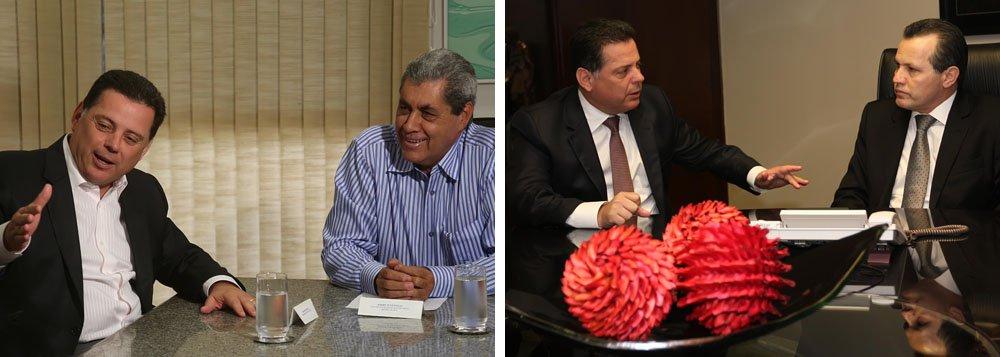 Depois de reunir-se com os colegas de Tocantins, Pernambuco e Maranhão, governador Marconi Perillo articula apoios de Silval Barbosa (Mato Grosso) e André Puccinelli (Mato Grosso do Sul); objetivo é apresentar e discutir um projeto de lei complementar que busca regulamentar e disciplinar os incentivos fiscais dos estados e a manutenção da alíquota unificada do ICMS para transações interestaduais; tucano argumenta que, se houver redução de 12% para 7% na alíquota interestadual de ICMS as regiões Centro-Oeste, Nordeste e Norte perderão 2 milhões de empregos; goiano ainda pretende angariar apoios no Ceará, em Sergipe, Alagoas, Santa Catarina e Espírito Santo