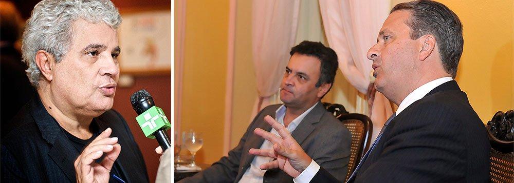 """Ao analisar os dois candidatos da oposição, o jornalista Ricardo Noblat, do Globo, apontou Eduardo Campos, do PSB, como potencialmente mais perigoso para o PT e a presidente Dilma do que o tucano Aécio Neves; """"Quem vota no PT não vota em Aécio Neves. Quem vota no PT pode votar em Eduardo. Lula sabe disso. Por isso orientou seus colegas de partido a não se atritarem com Eduardo. E Dilma, a polarizar com Aécio"""", diz ele"""