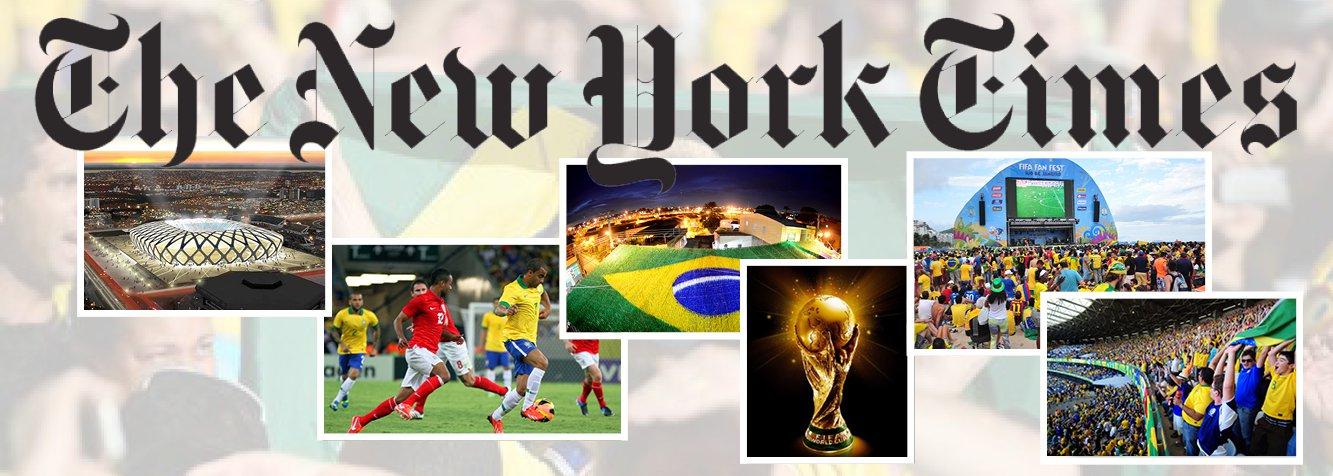 """Jornal norte-americano """"The New York Times"""", um dos mais importantes do mundo, não poupou elogios à Copa do Mundo no Brasil em editorial sobre o evento; """"A torcida foi colorida, barulhenta e comportada e os jogos variaram de entretenimento a absolutamente brilhante, tudo devorado pelo público recorde na televisão e nas mídias sociais"""", diz o texto; apesar dos elogios, o jornal lembrou que nem tudo foi agradável ao Brasil: """"Exceto, claro, a chocante derrota na semifinal por 7 a 1""""; jornal critica o presidente da Fifa, Joseph Blatter;""""Nos últimos anos, a Fifa tem sido associada direta ou indiretamente a todos os tipos de má gestão financeira, corrupção, peculato e viciação de resultados"""", disse"""